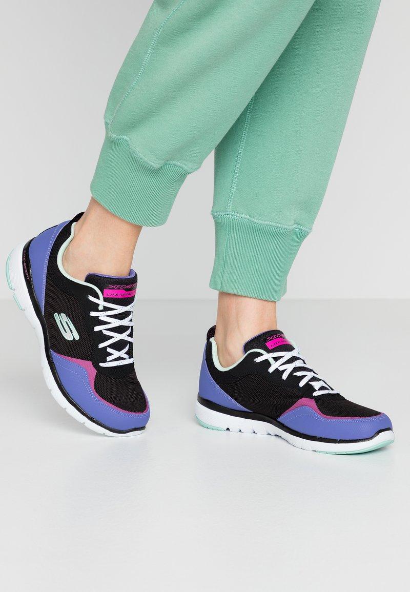 Skechers Sport - FLEX APPEAL 3.0 - Zapatillas - black/purple/pink