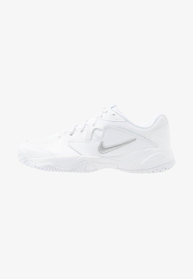 COURT LITE  - Tennisschoenen voor alle ondergronden - white/meallic silver