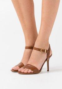 Lauren Ralph Lauren - GWEN - High heeled sandals - deep saddle tan - 0