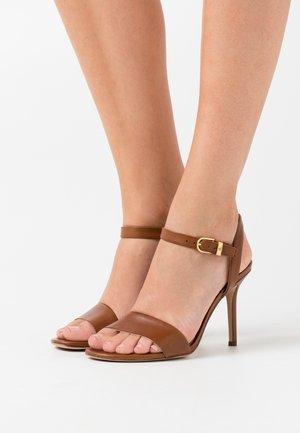 GWEN - High heeled sandals - deep saddle tan