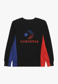 Converse - 3D EMBRIODERED COLOURBLOCK CREW - Sweatshirt - black - 0