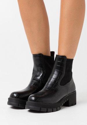 MARLOW - Platform ankle boots - black