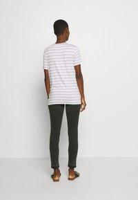 Marc O'Polo DENIM - SHORT SLEEVE STRIPE - Print T-shirt - multi/syringa lilac - 2