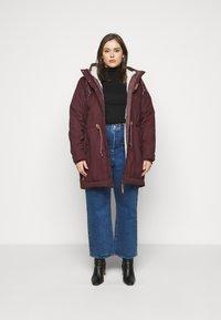 Ragwear Plus - CANNY - Zimní kabát - wine red - 1