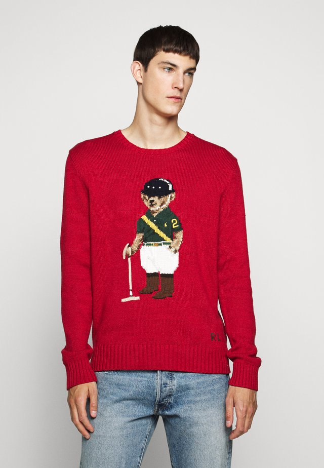 Pullover - park avenue red
