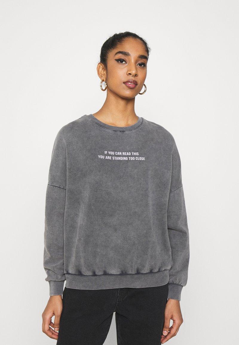 Even&Odd - Printed Oversized Sweatshirt - Mikina - dark grey