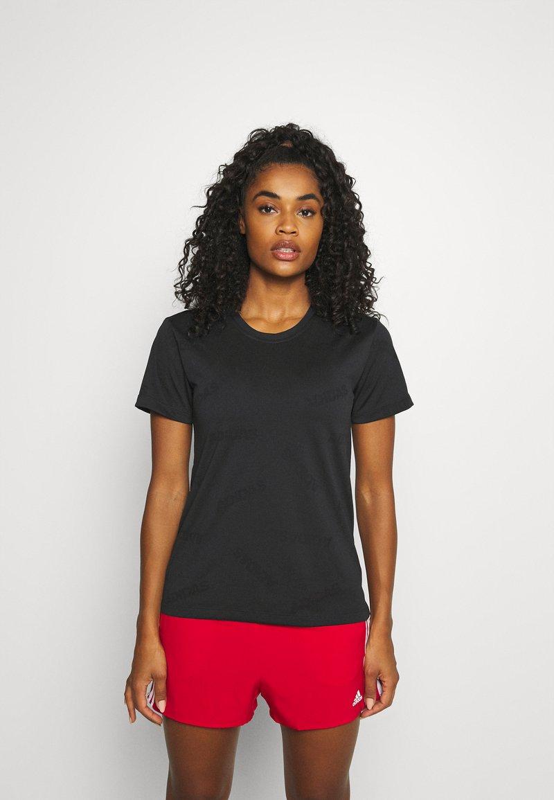 adidas Performance - TEE - T-shirt de sport - black/white