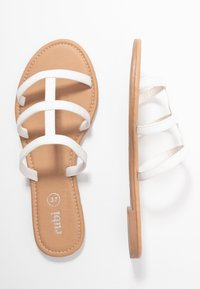Rubi Shoes by Cotton On - EVERYDAY CAGED SLIDE - Sandalias planas - white - 3