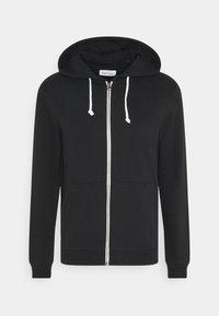 Pier One - SET - Sweat à capuche - light grey melange/black - 1