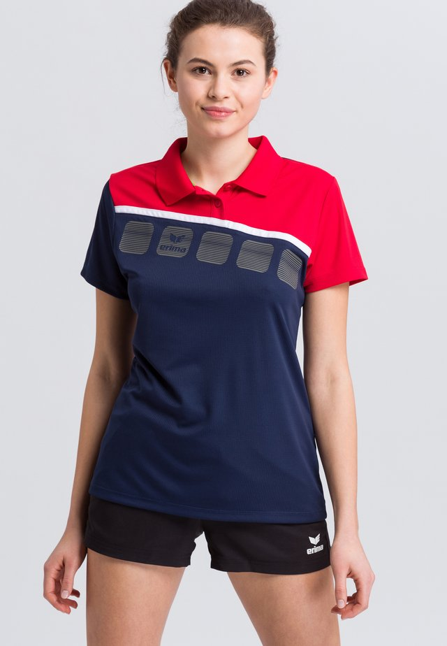 Sports shirt - navy/red/white