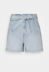 GAP - BRISTOL TIE WAIST - Denim shorts - light bristol - 0