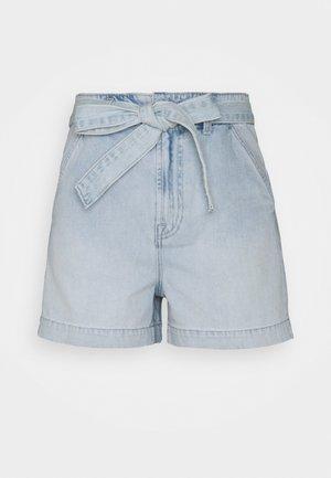 BRISTOL TIE WAIST - Shorts di jeans - light bristol