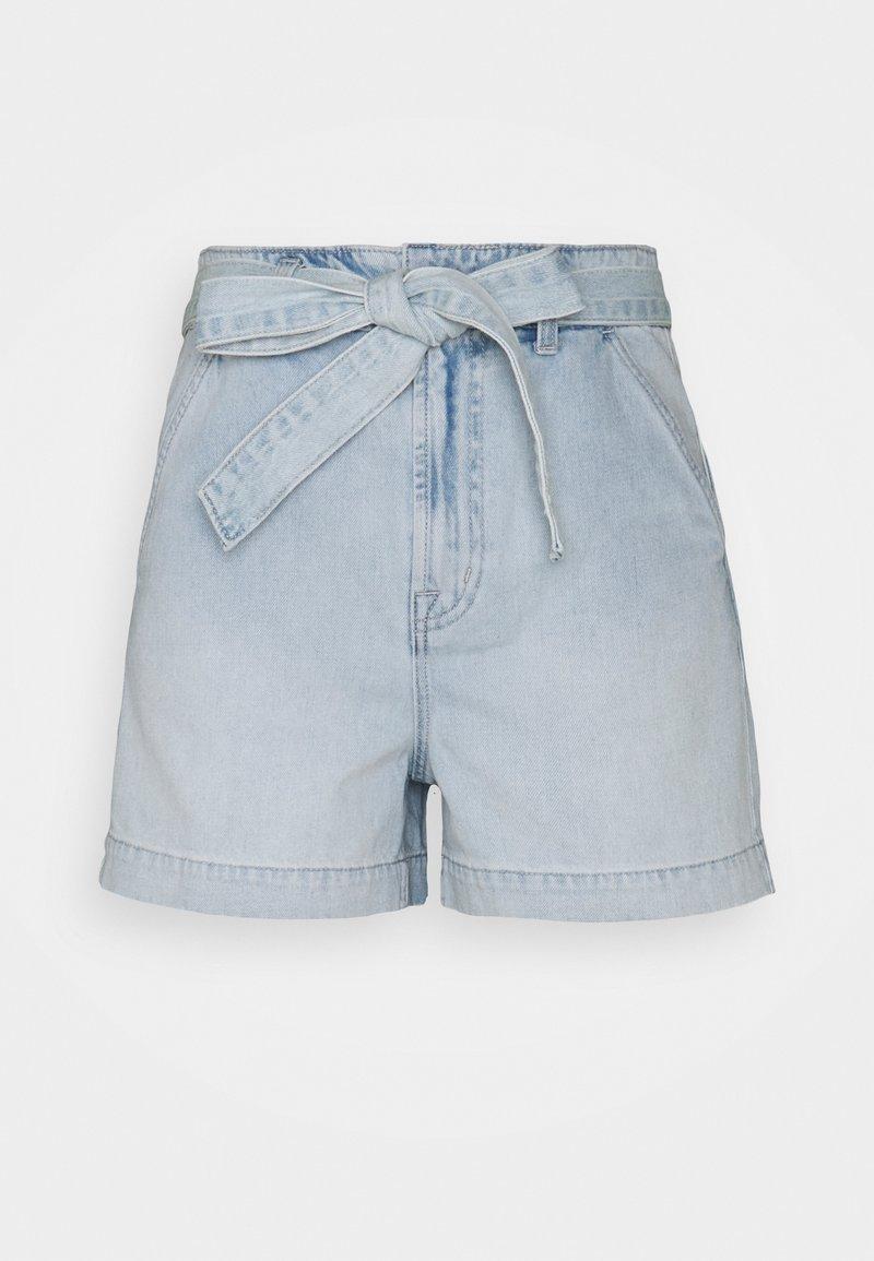 GAP - BRISTOL TIE WAIST - Denim shorts - light bristol
