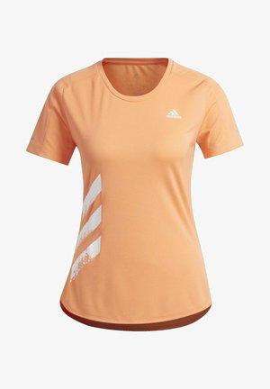 RUN IT 3-STRIPES FAST T-SHIRT - Print T-shirt - orange