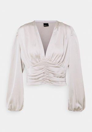 VICTORIA BLOUSE - Bluzka z długim rękawem - silver cloud