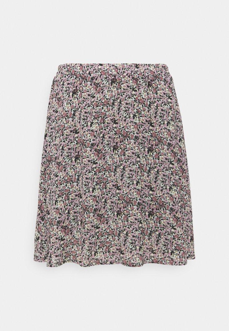 Moss Copenhagen - ENNIS RIKKLIE SKIRT - Mini skirt - aqua gray