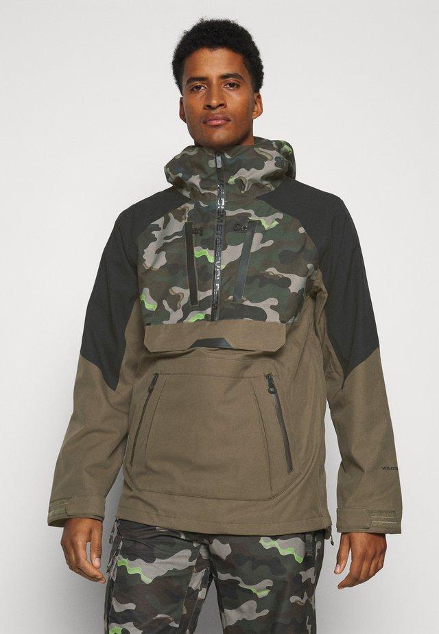 BRIGHTON PULLOVER - Snowboard jacket - army