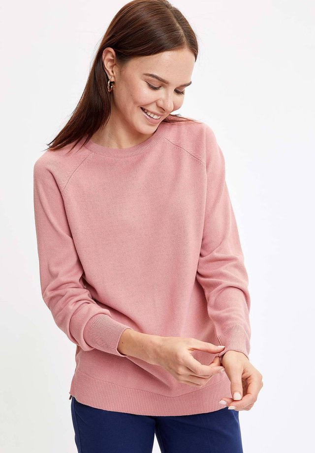 Strikpullover /Striktrøjer - pink