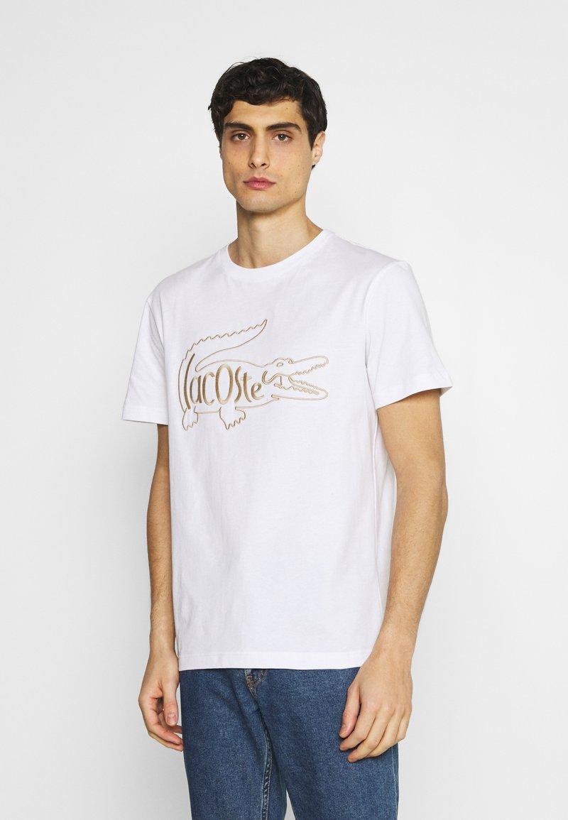 Lacoste - Print T-shirt - blanc