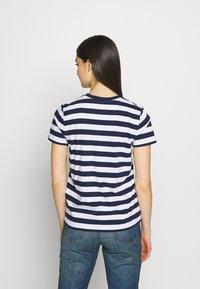 Polo Ralph Lauren - TEE SHORT SLEEVE - Print T-shirt - dark blue/white - 2