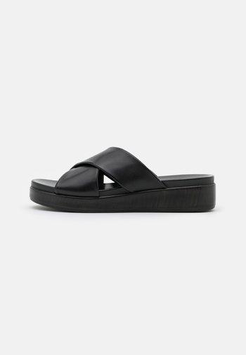 LEATHER - Slip-ins - black