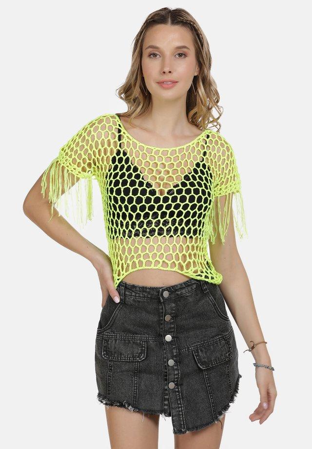 T-shirt con stampa - neon gelb
