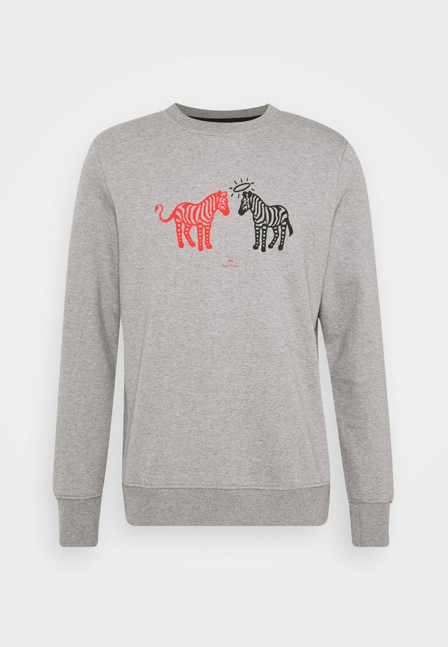MENS REGULAR FIT ZEBRAS - Sweater - grey
