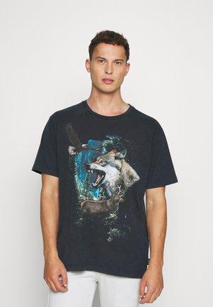 LUMOS WILDLIFE TEE - T-shirt print - black