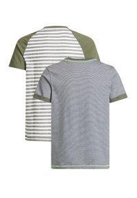 WE Fashion - MET STREEPDESSIN, 2-PACK - Print T-shirt - dark green - 1