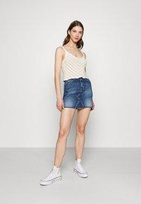 Tommy Jeans - SHORT SKIRT - Mini skirt - blue denim - 1