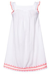 Sunuva - GIRLS EMBROIDERED FLUTTER SLEEVE DRESS - Day dress - white - 1