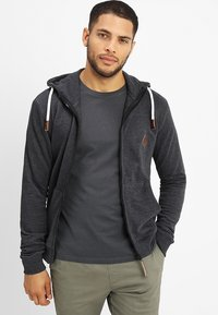 INDICODE JEANS - QUINBY - Zip-up hoodie - charcoal mix - 0