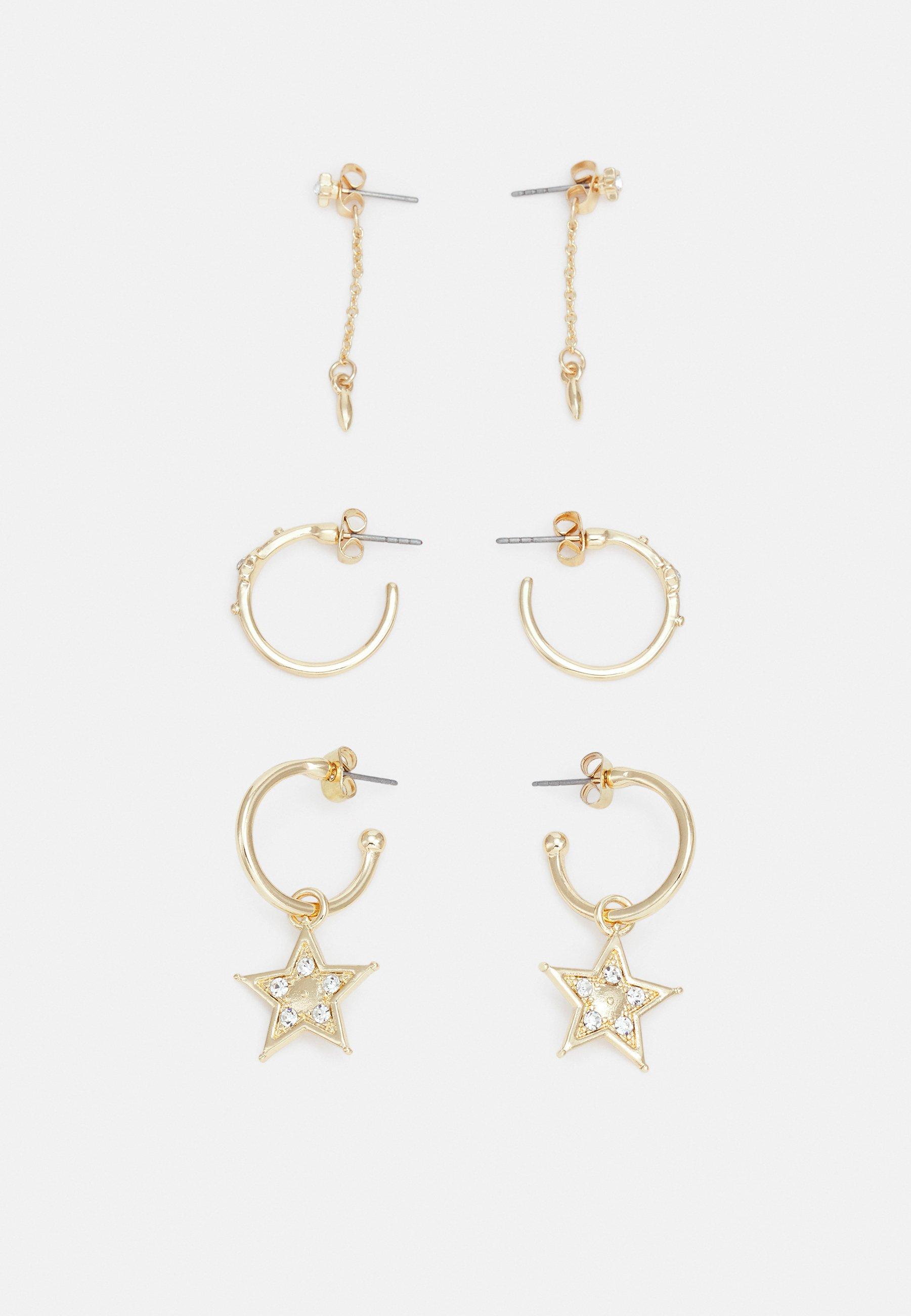 Women PCSTATTI EARRINGS 3 PACK - Earrings
