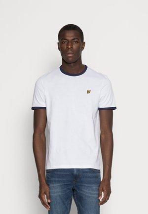 RINGER TEE - Jednoduché triko - white/navy