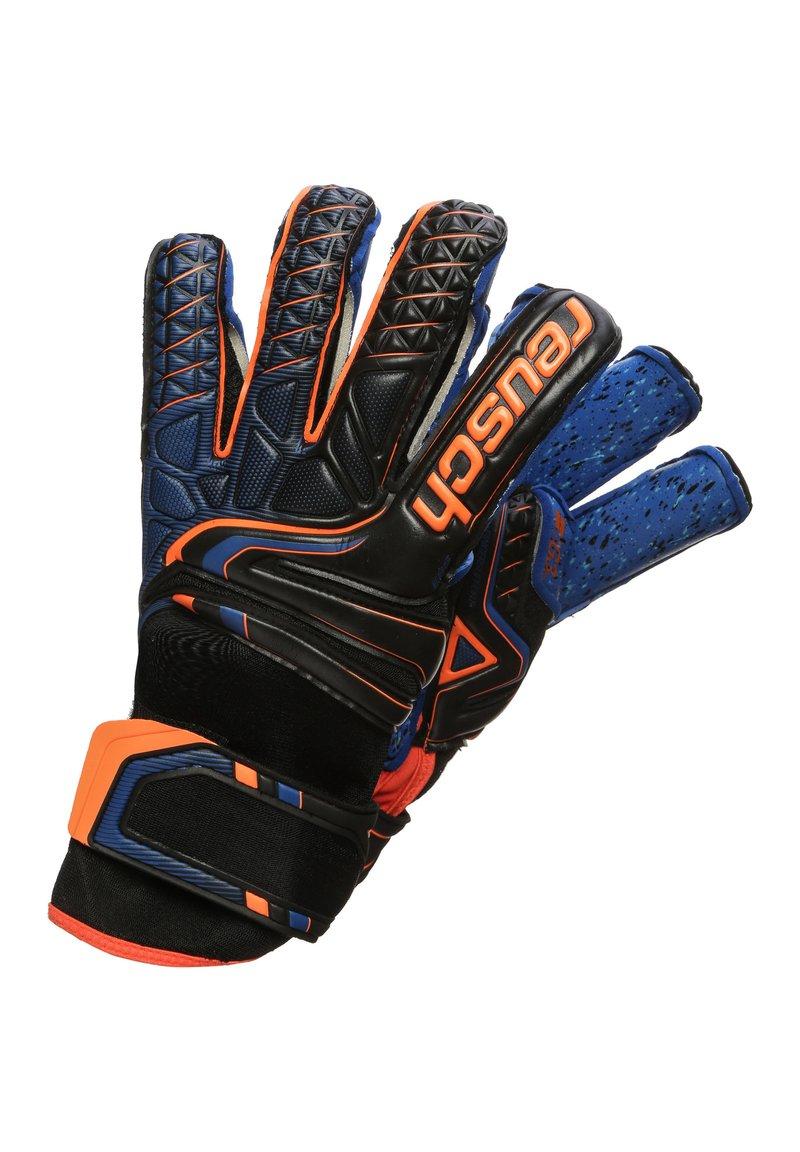 Reusch - Goalkeeping gloves - black / shocking orange / deep blue