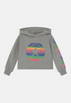 SLEEVE FOIL HOODY - Hoodie - grey heather