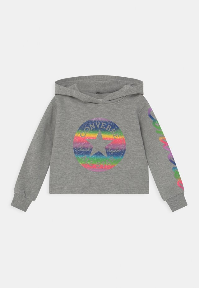 SLEEVE FOIL HOODY - Mikina s kapucí - grey heather
