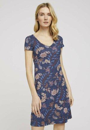 Jersey dress - navy floral design
