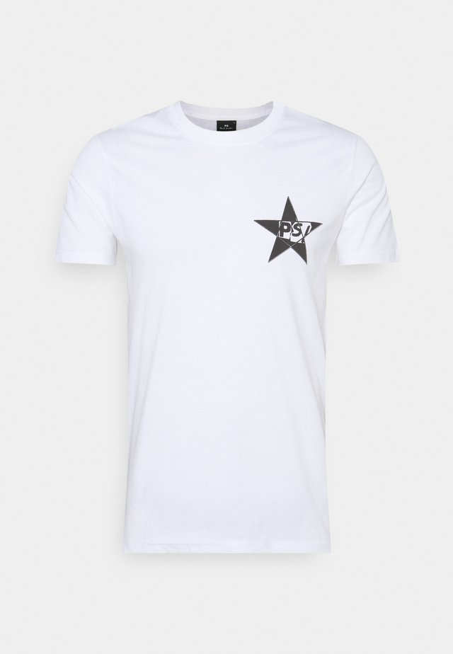SLIM FIT STAR  - T-shirt con stampa - white