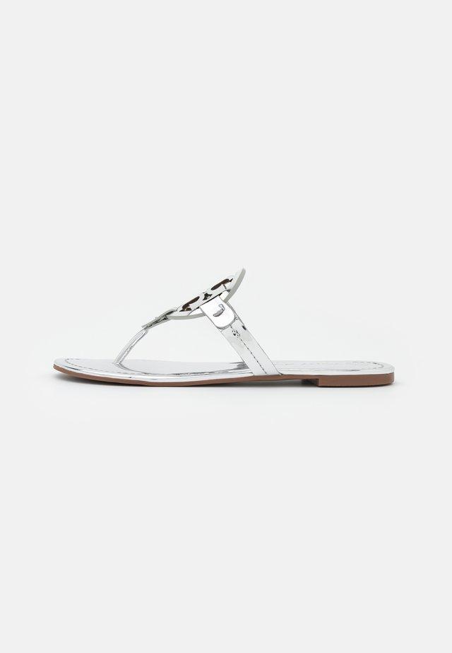 MILLER - T-bar sandals - silver