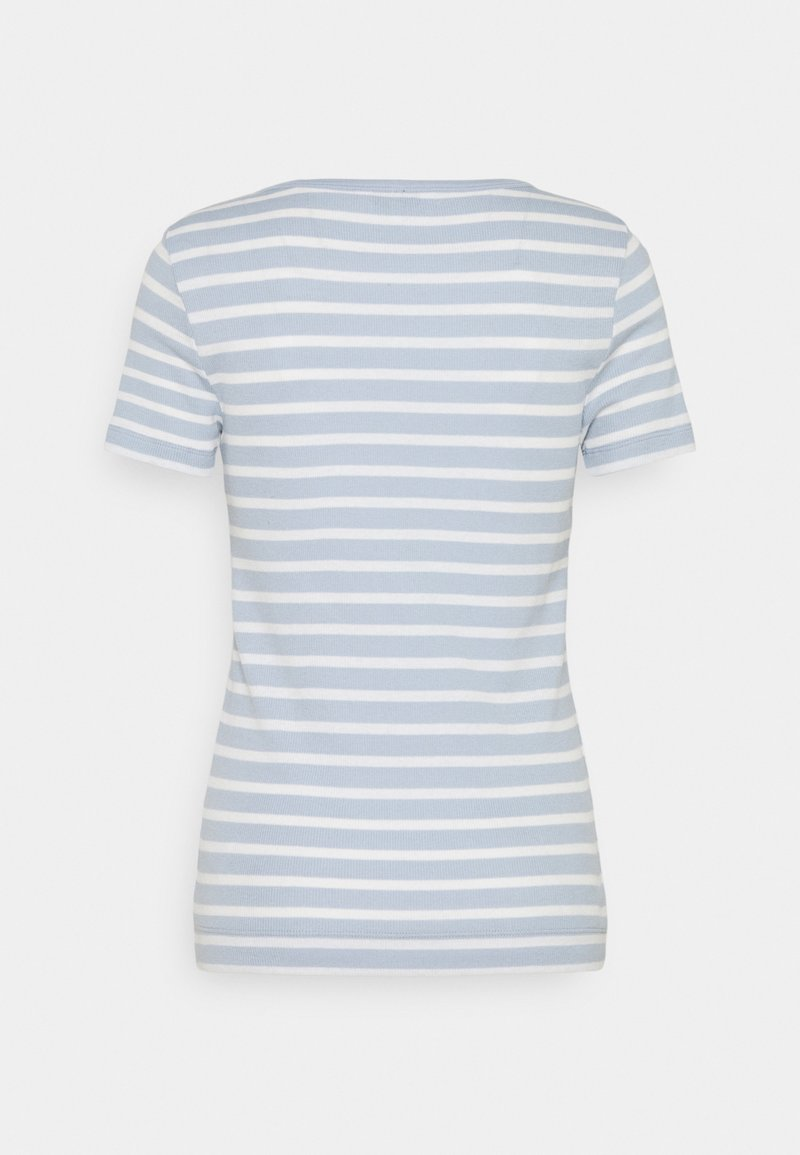 Tommy Hilfiger - SKINNY OPEN - Print T-shirt - breezy blue
