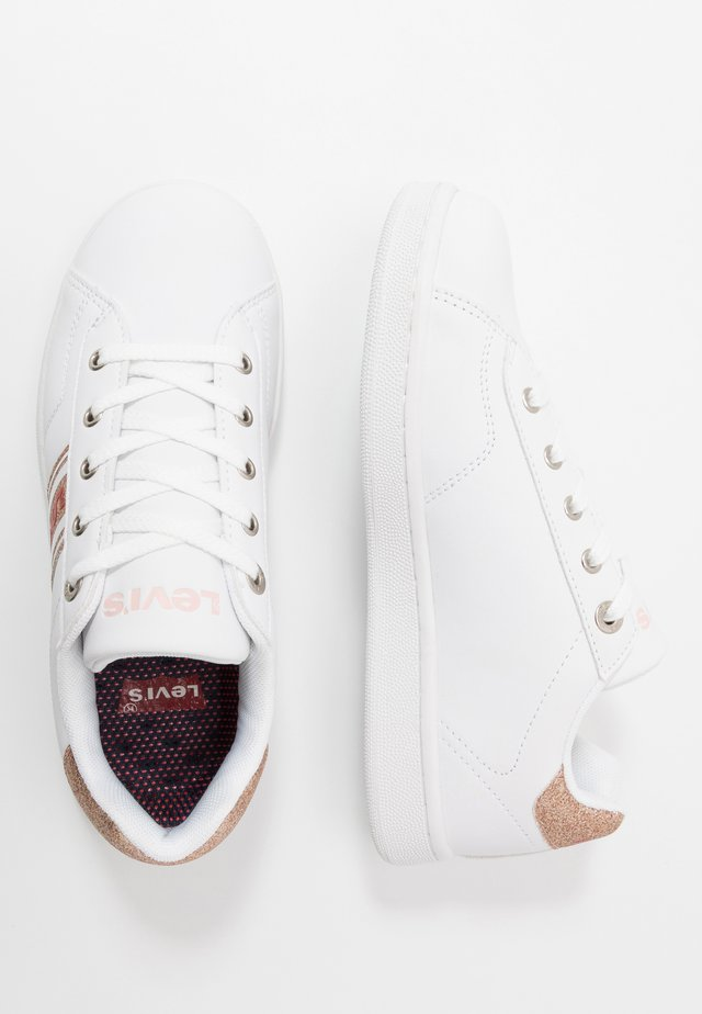 BRANDON  - Sneakers basse - white/rosegold