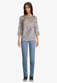 Betty Barclay - MIT MUSTER - Blouse - blue/orange - 1