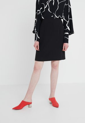 HIGH WAIST SKIRT - Spódnica ołówkowa  - black