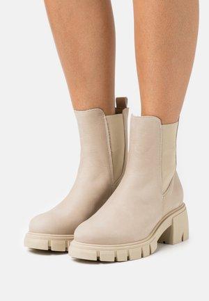 LINEA - Platform ankle boots - nude
