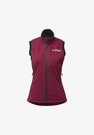 AGRAVIC XC WINTER X-COUNTRY SKIING VEST - Waistcoat - burgundy