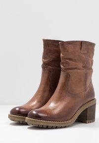 Anna Field - LEATHER WINTER BOOTIES - Zimní obuv - brown - 4