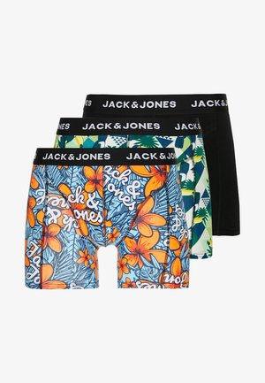 JACREDO TRUNKS 3 PACK  - Culotte - bonnie blue/black/green
