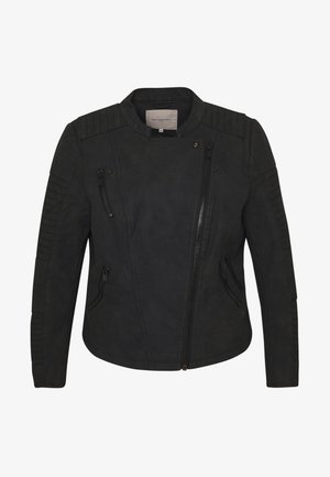 CARAVANA BIKER - Faux leather jacket - black