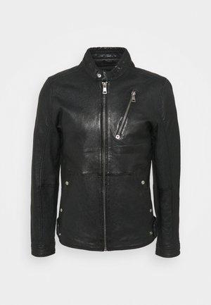 ASBEN - Kožená bunda - black